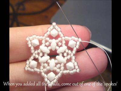 Stars of Bethlehem Earrings Beading Tutorial by HoneyBeads1 (Photo tutorial)