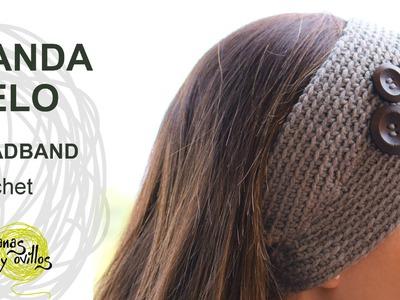Tutorial Banda Pelo Crochet o Ganchillo Fácil