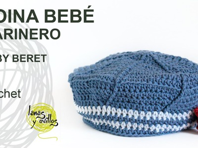 Tutorial Boina Bebé Marinero Crochet o Ganchillo
