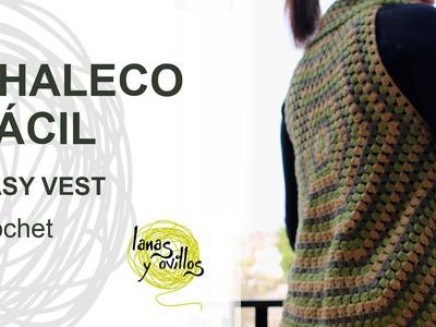 Tutorial Chaleco Crochet o Ganchillo Fácil