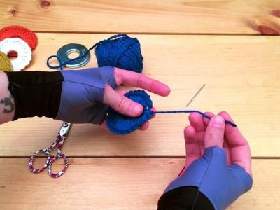 Tutorial: Crocheted Washer Sewing Pattern Weights