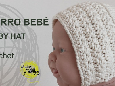 Tutorial Gorro Vintage Bebé Crochet o Ganchillo