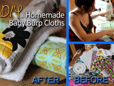 TUTORIAL ❤ Homemade Baby Burp Cloths | DIY w. One Urban Yogini ❤