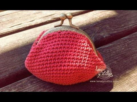 Tutorial Monedero Crochet o Ganchillo Cierre Metálico Coin Purse (english subtiltes)