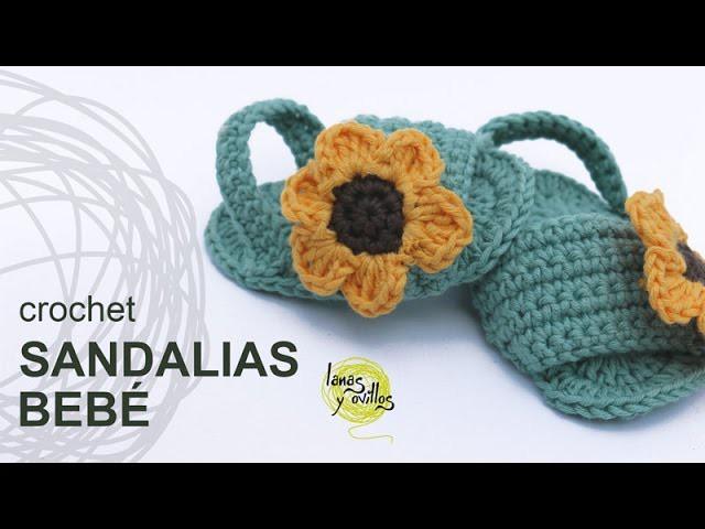 Tutorial Ganchillo Crochet Sandalias O Bebé RL4Aj5