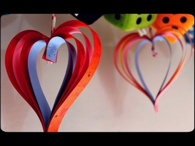 Valentine's Craft , How to make Paper Hearts