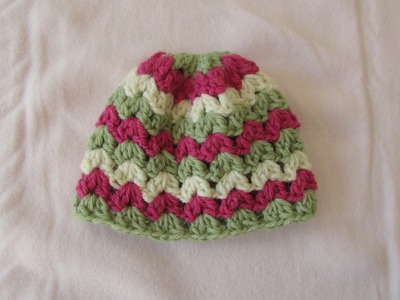 VERY EASY crochet cluster baby hat tutorial - crochet hat for beginners