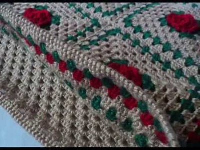 Вязание для дома.  Чехол на подушку. Crochet home decor.  Crochet pillow.  םריגה . עבודת יד