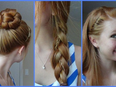 3 Simple, Quick, and Easy Back to School Hairstyles!