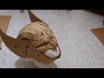 #54: Wolverine Cowl DIY Part 1 - Cardboard (template available)