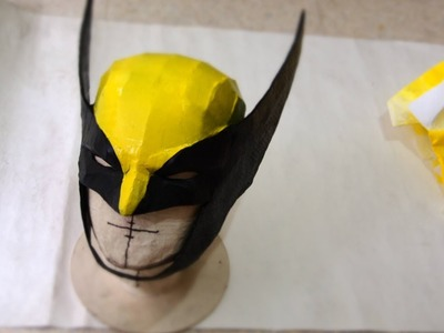 #55: Wolverine Cowl DIY Part 2 - Paper-Mache & Paint (template available)