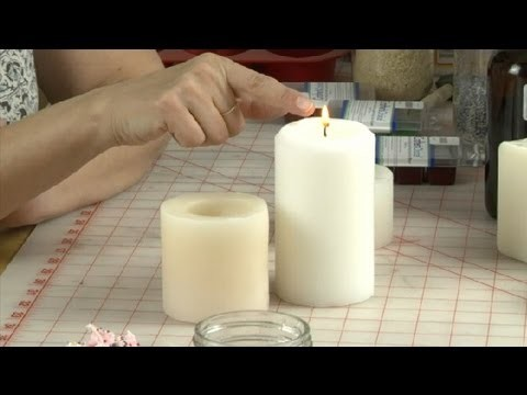 Burning a White Candle : Candle Making & More