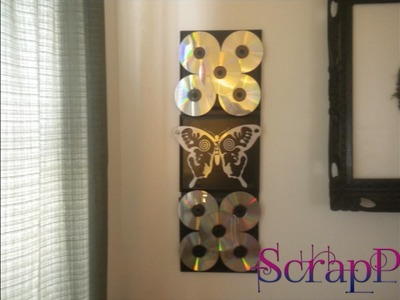 CD Wall Decoration DIY How To Tutorial