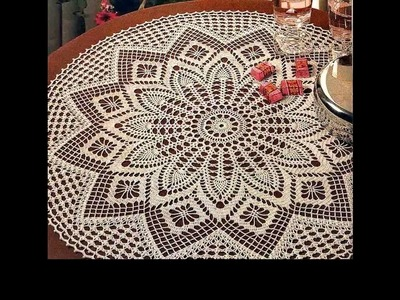Crochet crochet tablecloth tutorial