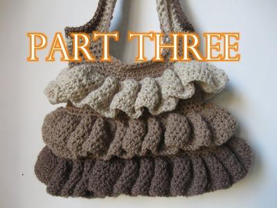 Crochet Ruffle Bag Tutorial pt 3