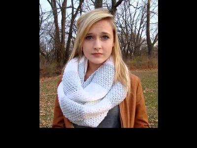 Crochet scarf hood