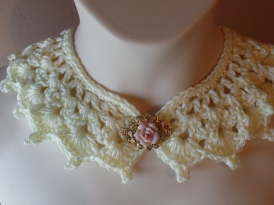 #Crochet Victorian Style Collar Necklace #TUTORIAL