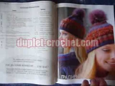 December 2013 Zhurnal MOD 574 HATS crochet n knit russian patterns from www.duplet-crochet.com
