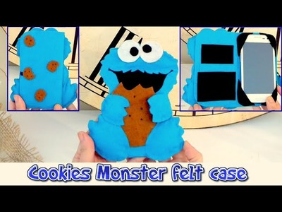 DIY crafts: mobile felt case like the Cookie Monster, easy crafts Isa ❤️