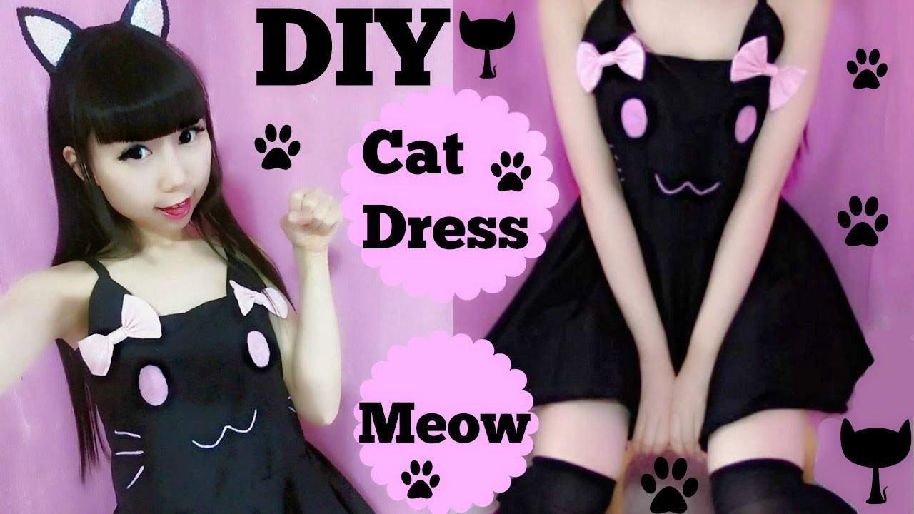 DIY Cutie Cat Summer Dress(Easy) Meow~Meow~