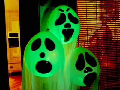 DIY Halloween Ghost Glow Balloons  - Yard Decorations!