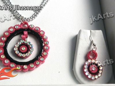 DIY How to make Paper Quilling Jewelry Set - JK Arts 379
