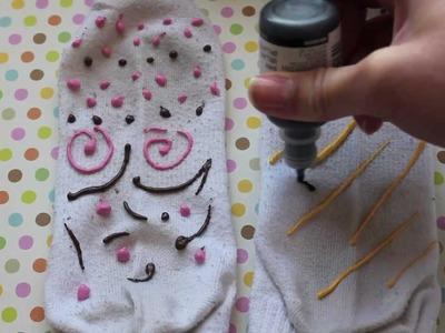 DIY No Slip Socks!