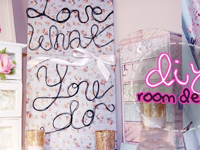 DIY Room Decor ✿ Easy Custom Quote Canvas Art