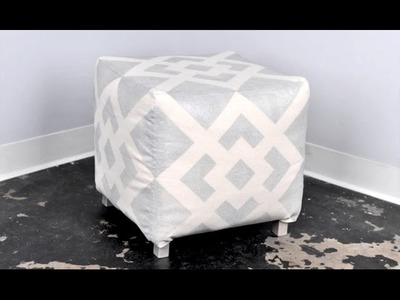 DIY Spray Painted Ottoman Tutorial