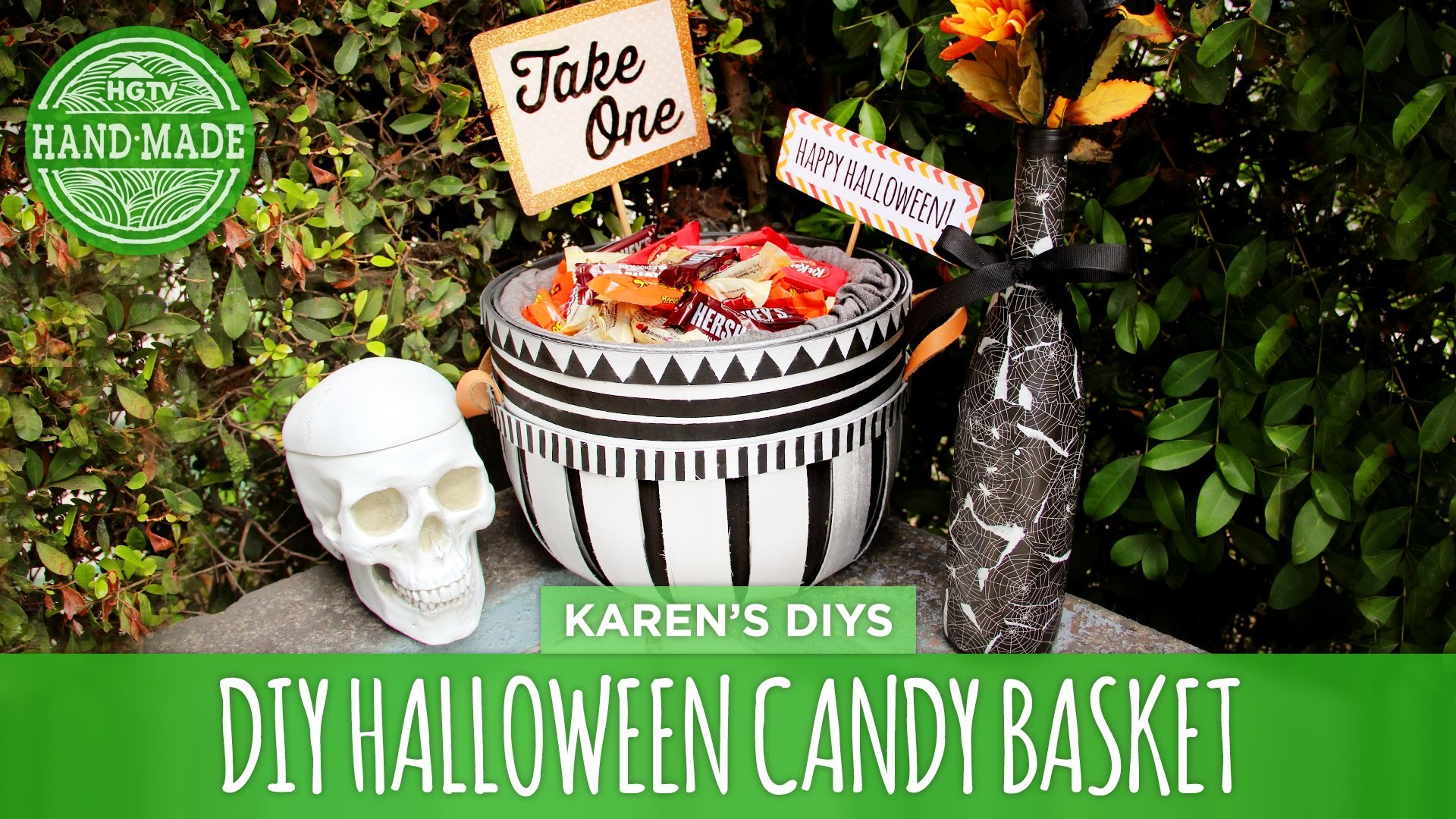DIY Trick or Treating Candy Basket - HGTV Handmade