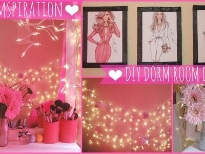 ♥ Dormspiration- DIY Dorm Room Decor ♥