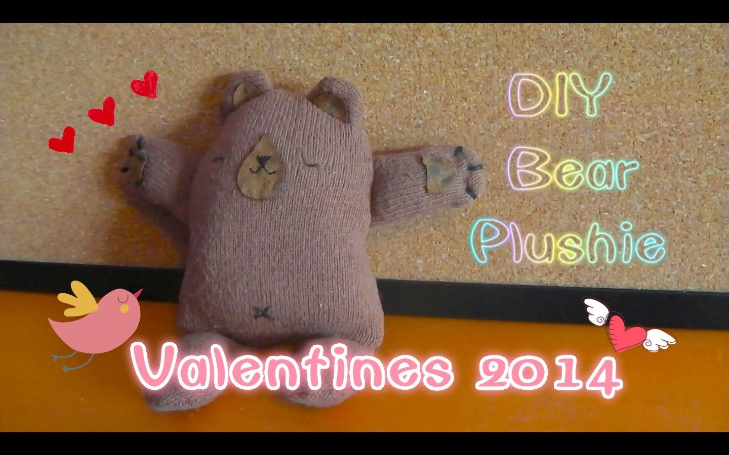 ✄Easy DIY✄ ❤Gift Idea❤ DIY Bear Plushie for Valentines 2014 [Gifts for him]