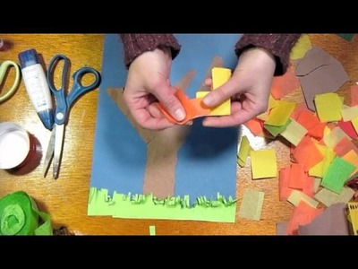 Fall collage kids craft