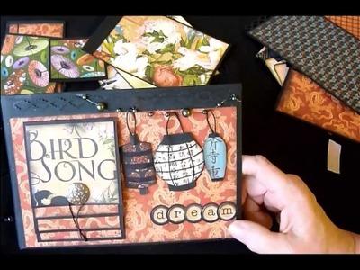 Graphic 45 Bird Song Mini Album with Bead Binding
