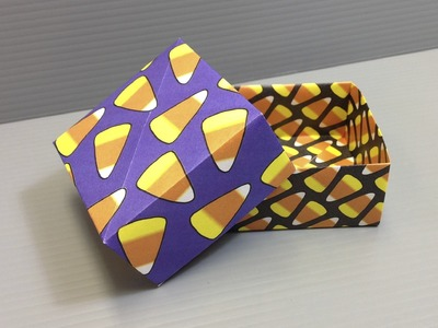 Halloween Origami Candy Corn Pattern Boxes - Print Your Own Paper!