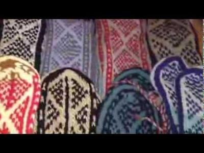 Hippie Clothes Bohemian Clothing Handmade Knit PAKISTAN Wool Blend Mukluks Slippers Socks Boots