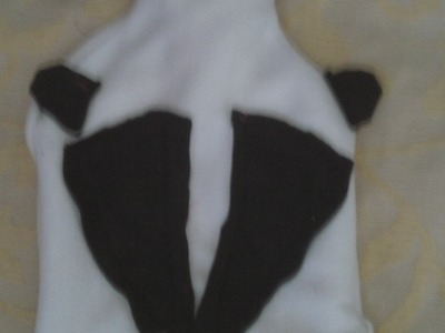 Hot water bottle cover, sewn with simple running.