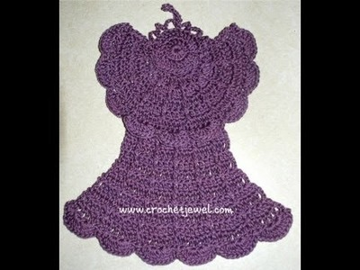 How to Crochet an Angel Dishcloth Tutorial Part 4