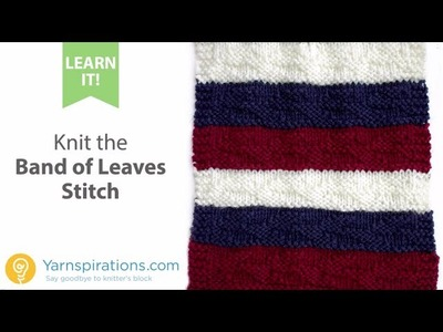 How to Knit the Band of Leaves Stitch and Change Colors