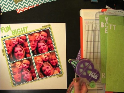Howto Use Chevron and Hexagon Trend Scrapbook Page Layout