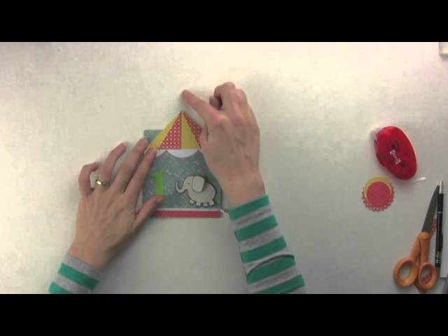 Hungry Heffy Crafts - Birthday Card - Elephant - Full Tutorial With Step By Step Instructions