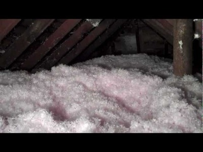 Insulating a small attic space