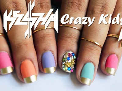 Ke$ha Crazy Kids Nails ♥ Tutorial