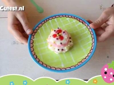 Kracie Popin' Cookin Happy Kitchen Birthday Cake DIY candy tutorial how to MostCutest.nl