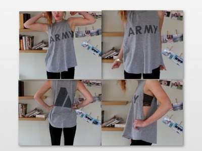 Make Your Own Muscle Tee! (Brandy Melville DIY)