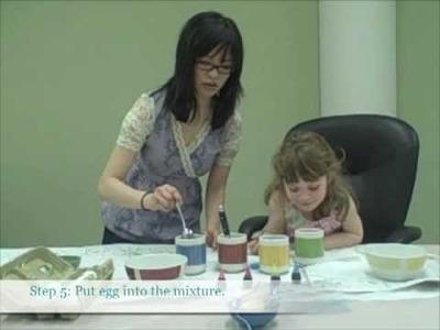 Marbleized Easter Eggs Craft: Easter Egg Crafts- Egg Decorating Craft