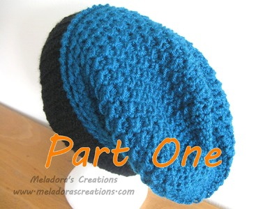 Moss Stitch Slouch hat tutorial Part 1 - Left Handed Verison