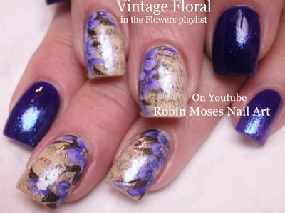 Nail Art Tutorial DIY Sharpie Nails   Vintage Purple Flower Nail Design