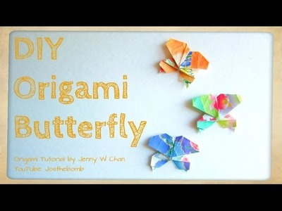Origami Butterfly - How to Fold a Butterfly - Easy Paper Crafts for Kids - Spring Decoration