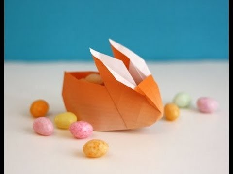 Origami Easter Bunny Container.Basket (Full HD)